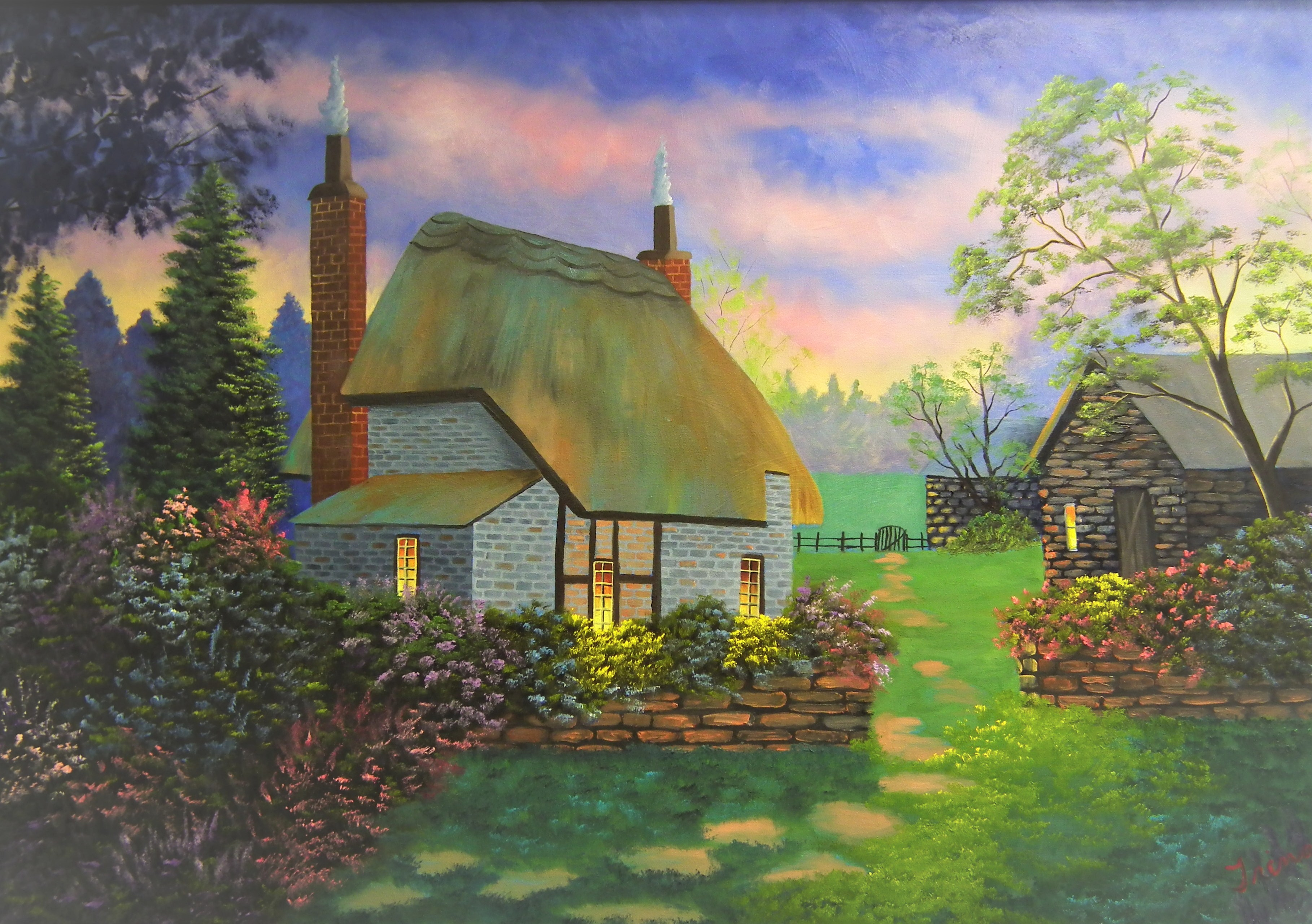 Coventry Cottage Oil Painting Class